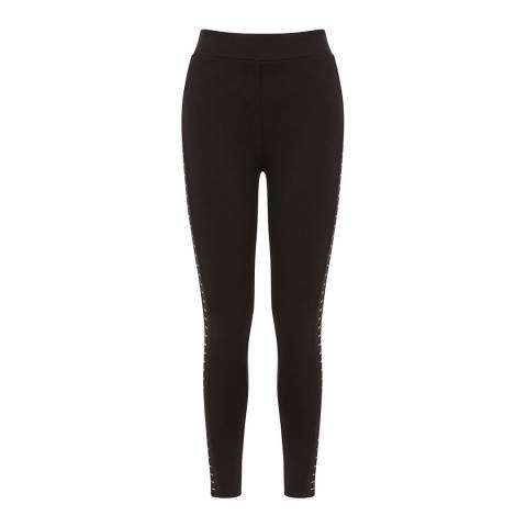 Oasis Black Studded Side Leggings