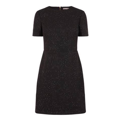 Oasis Multi Black Sequin Fabric Dress