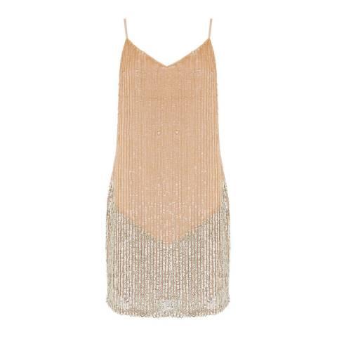 Oasis Light Neutral Sequin Cami Dress