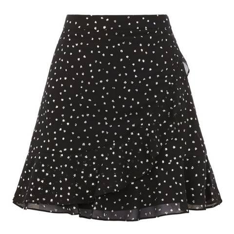 Oasis Multi Glitter Spot Flippy Skirt