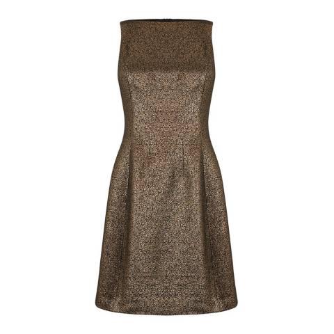 Oasis Gold Tweed Dress