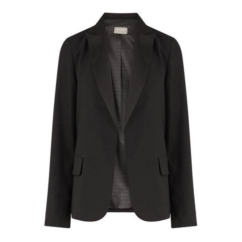 Oasis Black Satin Back Crepe Jacket