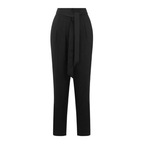 Oasis Black Satin Back Crepe Trouser