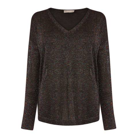 Oasis Multi Black Shanah Lurex Jumper