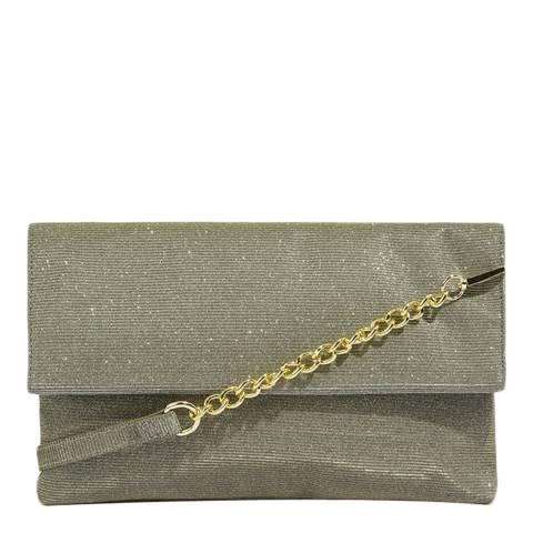 Oasis Multi Gold Glitter Fold Over Clutch