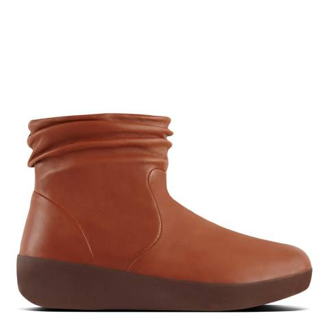 FitFlop Caramel Leather Skatebootie Ankle Boots