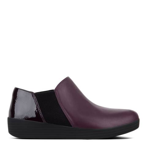 FitFlop Deep Plum Mix Leather Superchelsea Boots