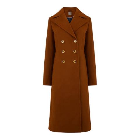 Oasis Mid Brown Linden Long Coat