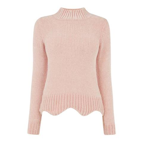 Oasis Pale Pink Grace Chenille Plain Jumper