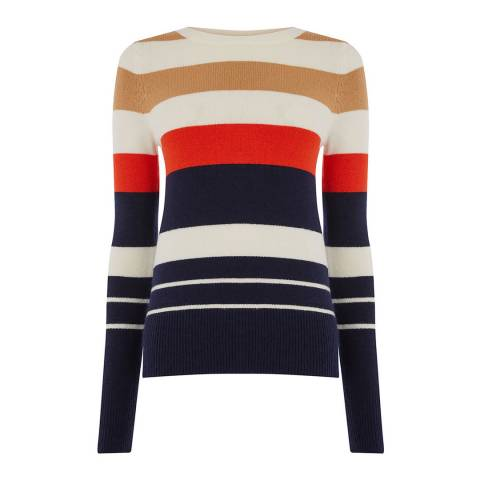 Oasis Multi Shannon Stripe Jumper