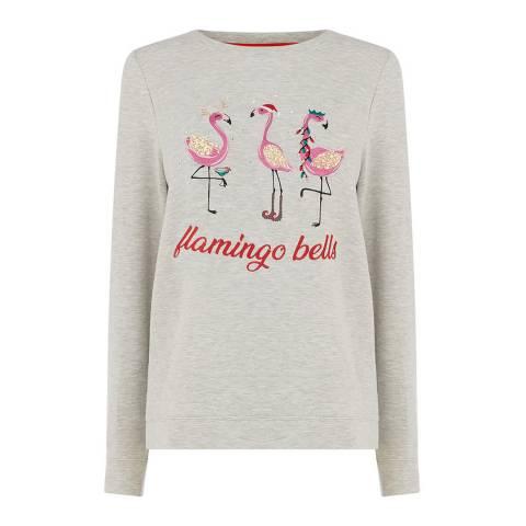 Oasis Pale Grey Flamingo Bells Sweat