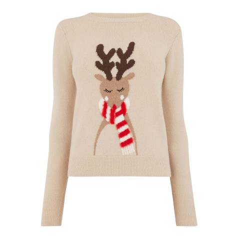 Oasis Multi Natural Vixen Reindeer Jumper