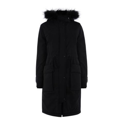 Oasis Black Salcombe Fashion Parka
