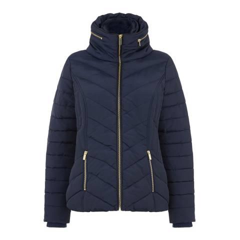Oasis Navy Short Padded Jacket