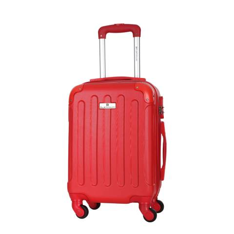 Platinium Red Allgood 4 Wheel Suitcase 56cm
