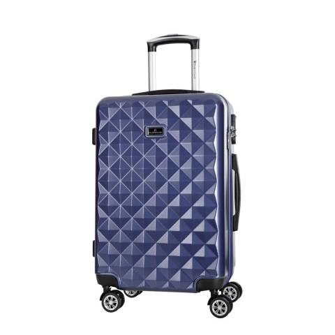 Platinium Marine Blue Gregoria 8 Wheel Suitcase 60cm