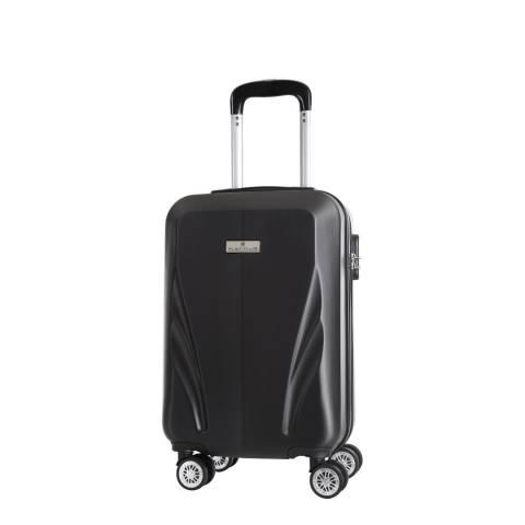 Platinium Black Islas Low Cost 8 Wheel Suitcase 52cm