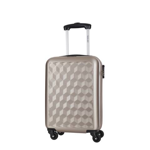 Travel One Beige Anderson Low Cost 4 Wheel Suitcase 46cm