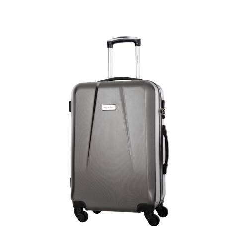 Travel One Grey Pandara Low Cost 4 Wheel Suitcase 46cm