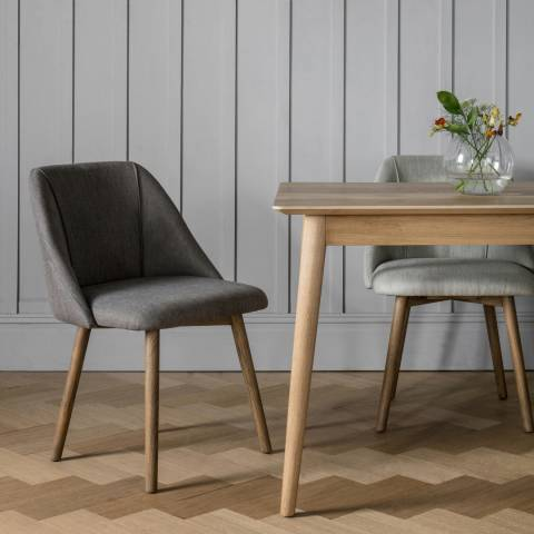 Gallery Pair of Elliot Dining Chairs, Slate Grey