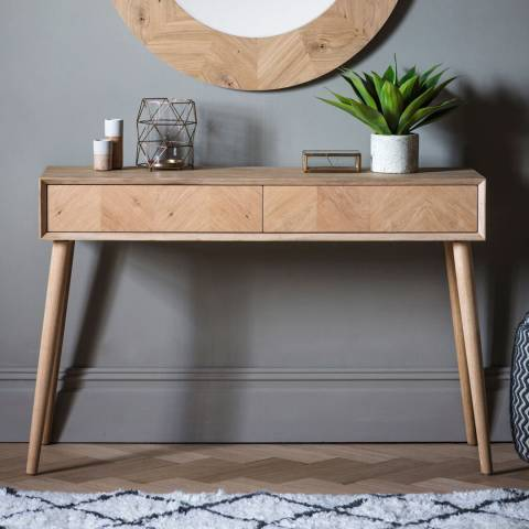 Gallery Milano 2 Drawer Console Table