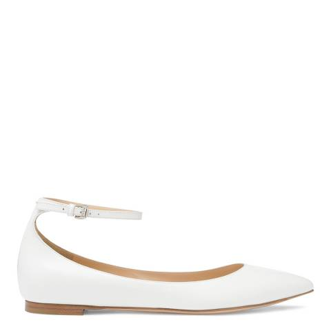 Gianvito Rossi Off White Suede Luxe Flats