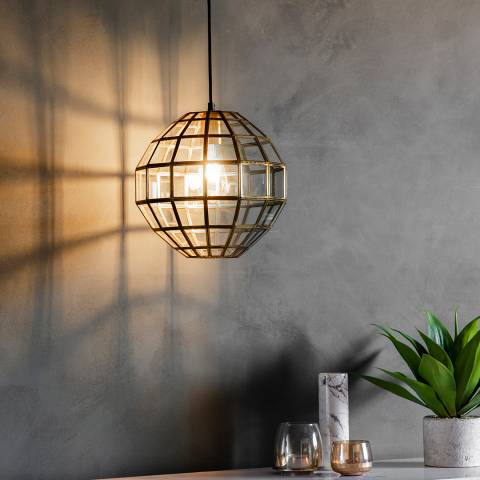 Gallery Gold/Clear Matteo Pendant Lamp