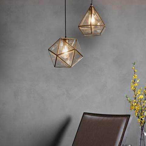 Gallery Gold/Clear Terni Pendant Lamp