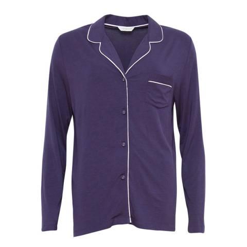 Cyberjammies Purple Cassie Revere Collar Long Sleeve Knit Pyjama Top
