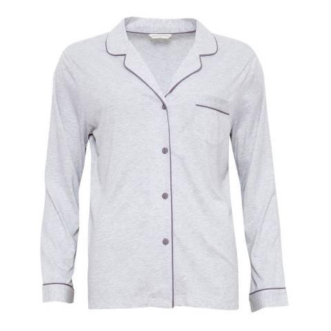 Cyberjammies Grey Erica Revere Collar Long Sleeve Knit Pyjama Top