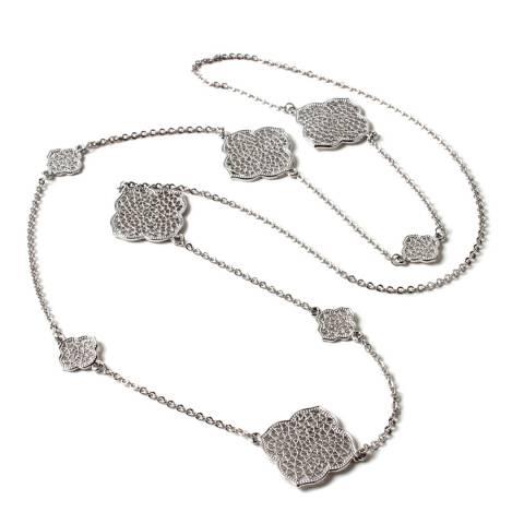 Amrita Singh Silver Filigree Embellished Station Necklace