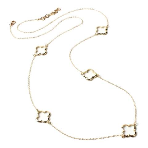 Amrita Singh Gold Clover Station Necklace