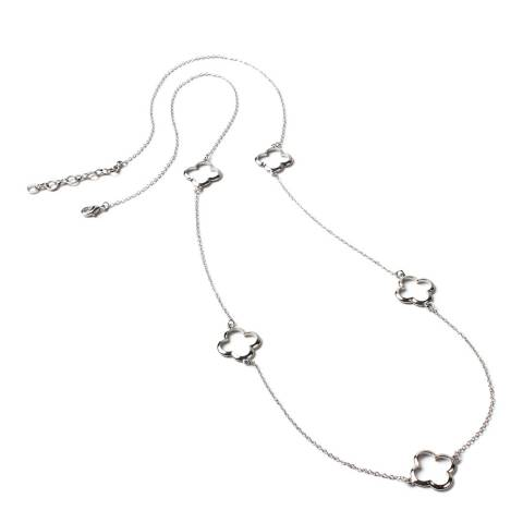 Amrita Singh Silver Clover Station Necklace