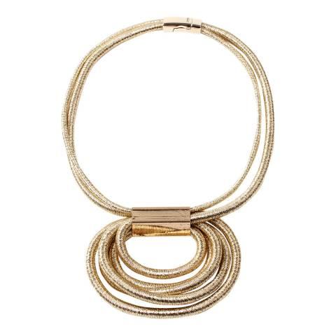 Amrita Singh Gold Lurex Circular Geometric Statement Necklace