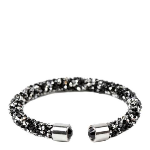 Amrita Singh Silver / Black Crystal Cuff Bracelet