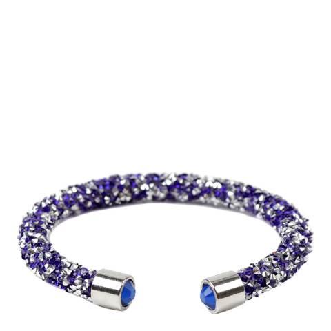 Amrita Singh Silver / Blue Crystal Cuff Bracelet