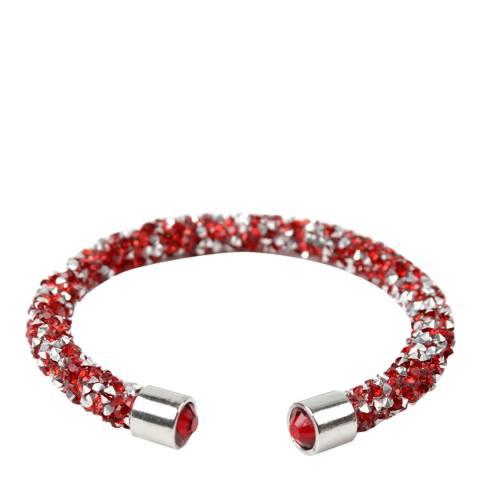 Amrita Singh Silver / Red Crystal Cuff Bracelet
