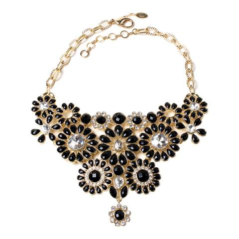 Amrita Singh Gold / Black Stone Bib Necklace