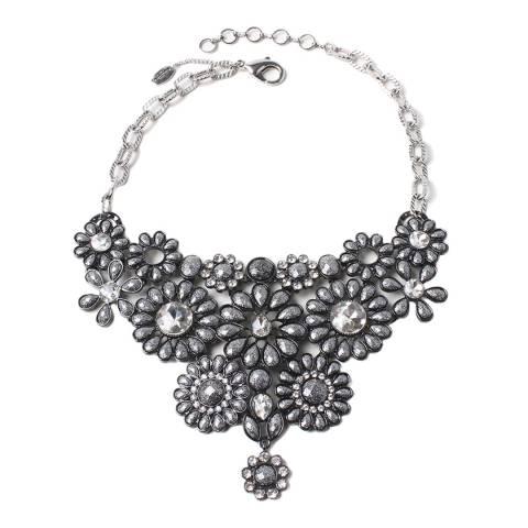 Amrita Singh Gunmetal / Silver Stone Bib Necklace