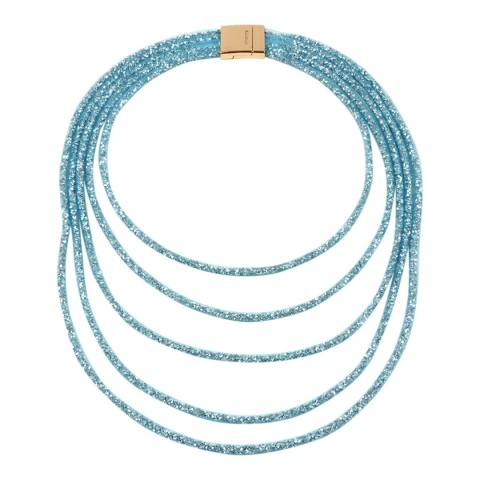 Amrita Singh Aqua Multi-Layered Crystal Mesh Necklace
