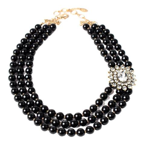 Amrita Singh Black Crystal Necklace