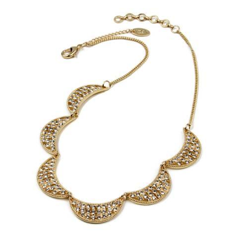 Amrita Singh Gold Multi-Half Moon Crystal Necklace
