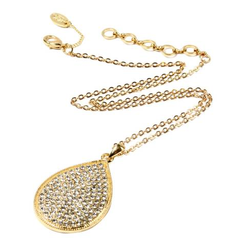 Amrita Singh Gold Tear Drop Shaped Crystal Cluster Necklace