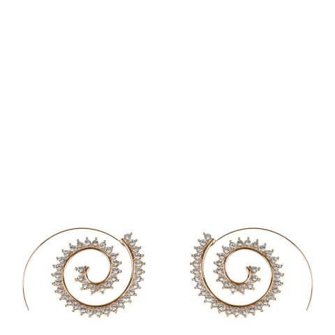 Amrita Singh Gold Hoop Swirl Crystal Earrings