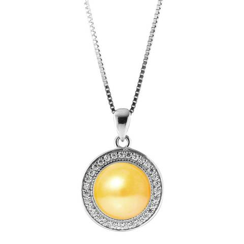 Just Pearl Yellow/Silver Pearl Necklace