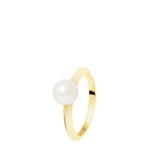 Just Pearl Silver Pearl/Gold Ring