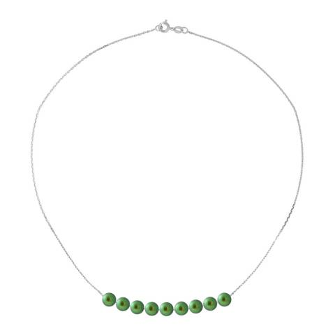Just Pearl Green/Silver Pearl Necklace