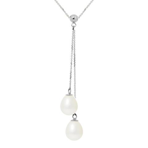 Mitzuko White Freshwater Pearl Drop Necklace
