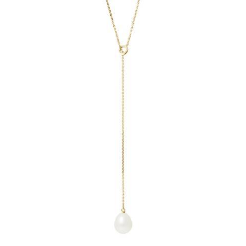 Mitzuko White Freshwater Pearl Drop Necklace