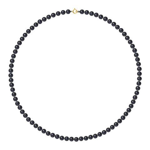 Mitzuko Black Row Of Pearls Necklace 4-5mm